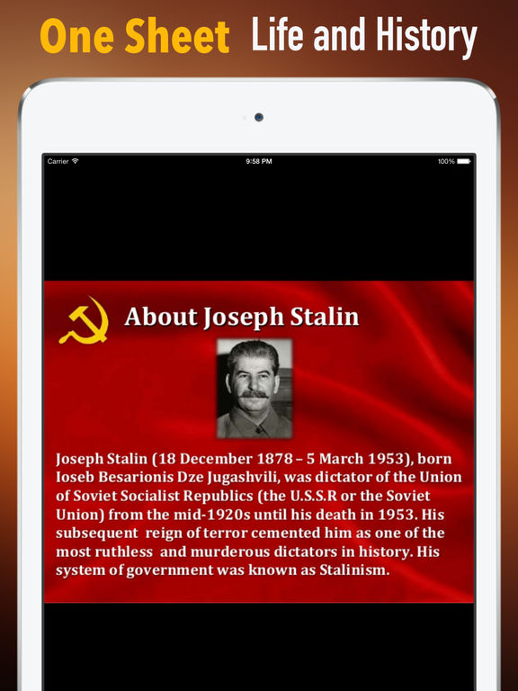 Biography and Quotes for Joseph Stalin:Life,Speech screenshot 7