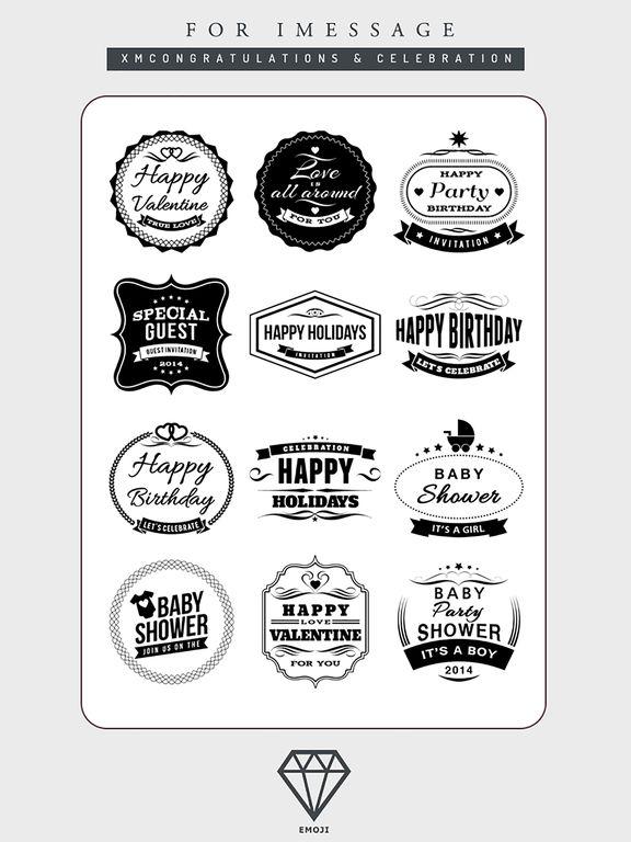 B&W Emoji Keyboard - Gift Sticker for Messenger screenshot 8