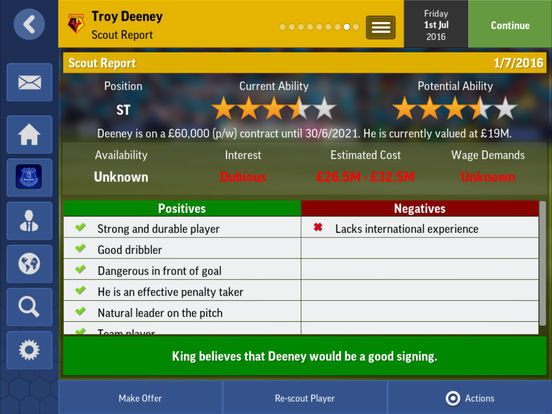 Football Manager Mobile 2017 screenshot 8