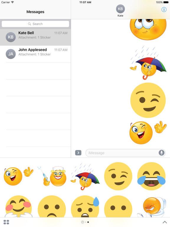 Emoticons Bundle Stickers iMessage Edition screenshot 8