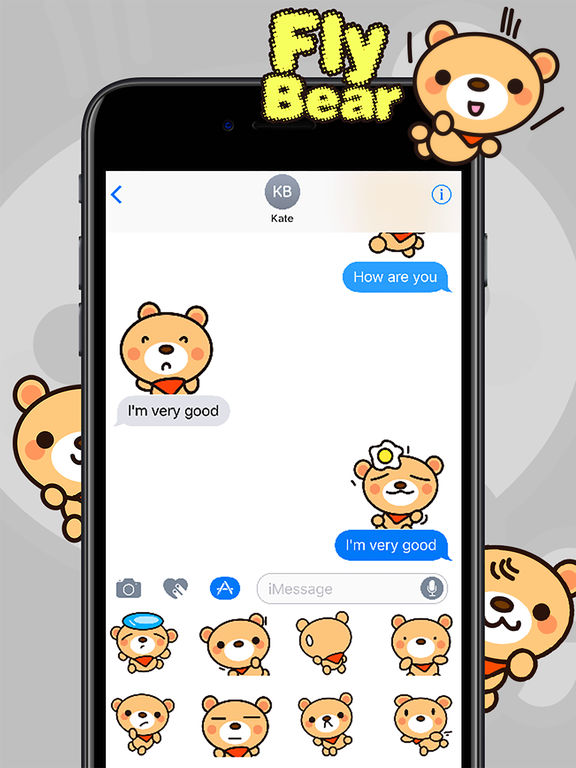 Fly Bear Sticker - Cute & Emotional Stickers screenshot 9