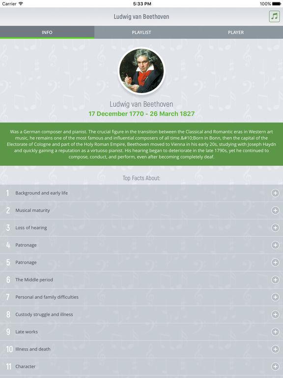 Ludwig van Beethoven - Classical Music screenshot 5