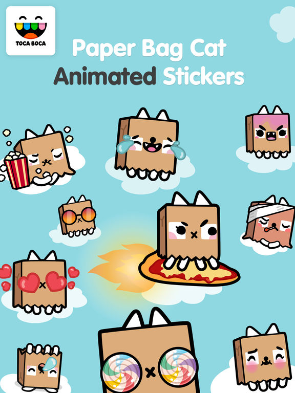Toca Life Paper Bag Cat screenshot 6
