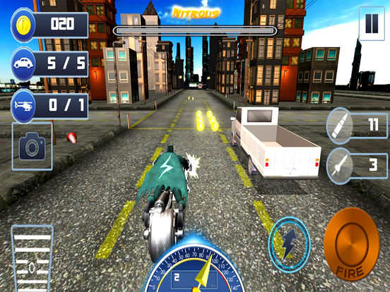 City Bike Shooter 3D screenshot 4