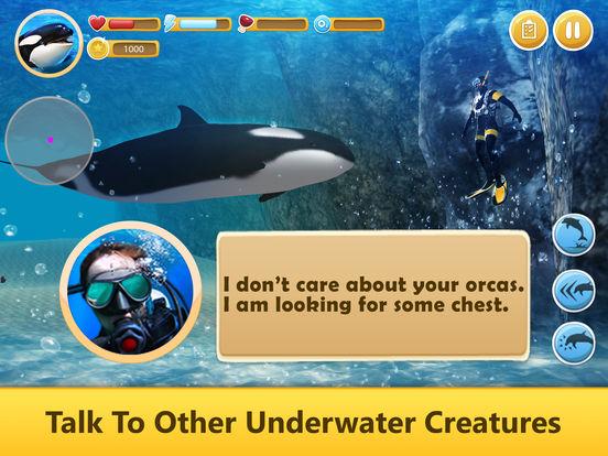 Ocean Whale Orca Simulator: Animal Quest 3D screenshot 6