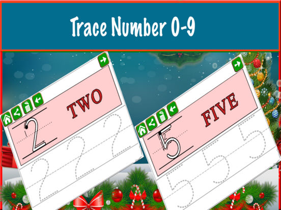 Alphabet Tracing Cursive & Numbers Christmas Game screenshot 8