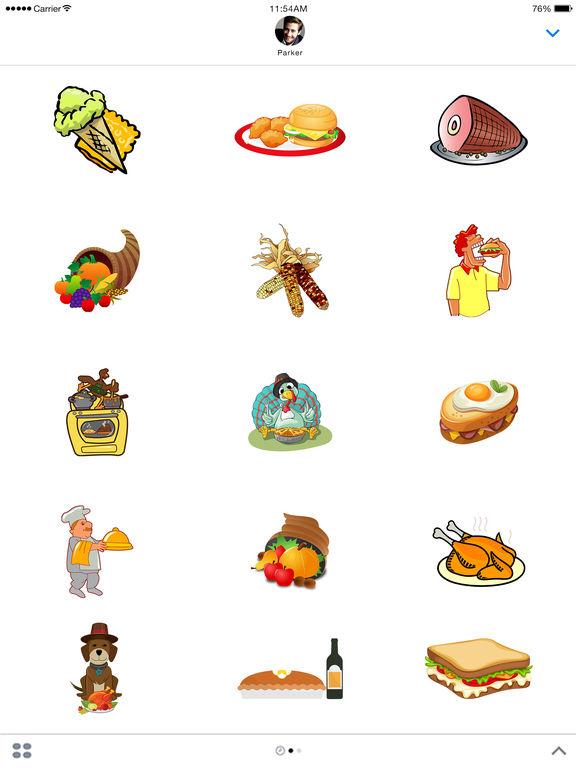 Food Stickers - Thanksgiving Food Emoji screenshot 4