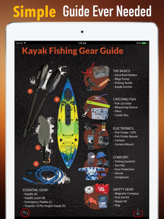 Kayak Fishing Quick Reference - Tips and Guide screenshot 6
