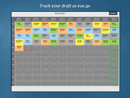 RotoWire Fantasy Hockey Draft Kit 2016 screenshot 7
