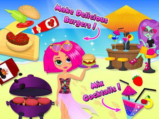 Monster Sisters Summer Party – Holiday Makeover screenshot 6
