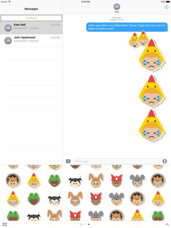 Ibbleobble Face Stickers for iMessage screenshot 6