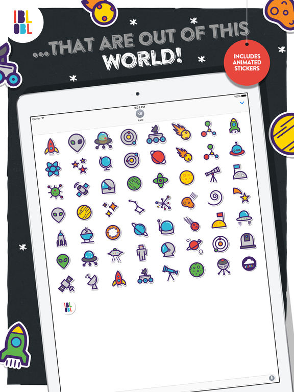 Ibbleobble Space Stickers for iMessage screenshot 5