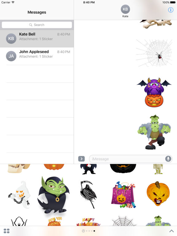 Halloween Freaky Stickers for iMessage screenshot 8