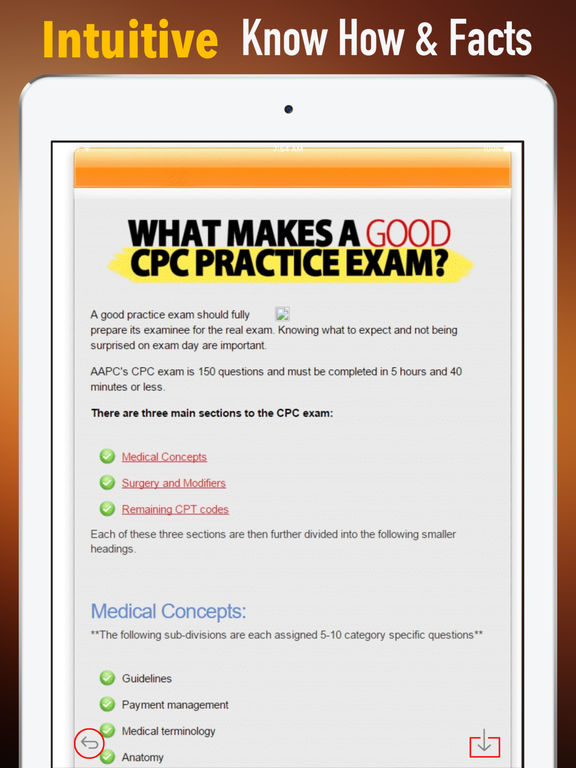 CPC Exam Glossary - Cheatsheet and Study Guide screenshot 6