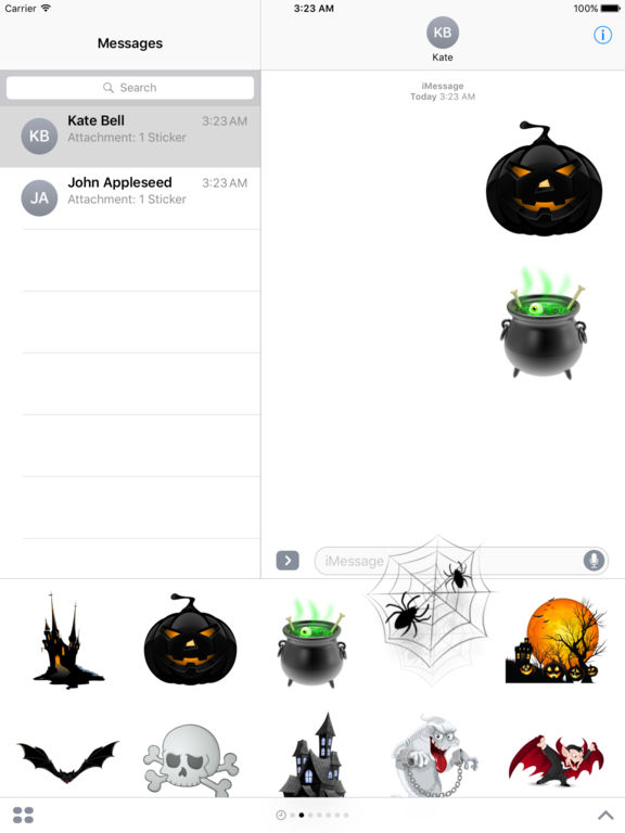 Halloween Creepy Stickers for iMessage screenshot 9