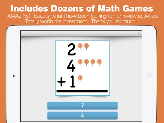 First Grade Learning Games - Fall Review App screenshot 8