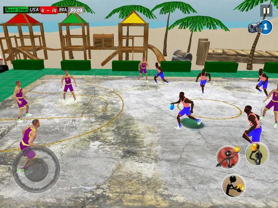 Beach Basketball 2k17: NBA slam dunk hoops trainer screenshot 6
