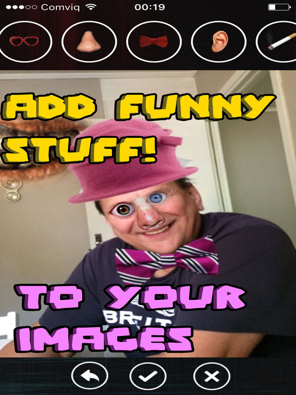 Funny faces - add stuff to photos! screenshot 6