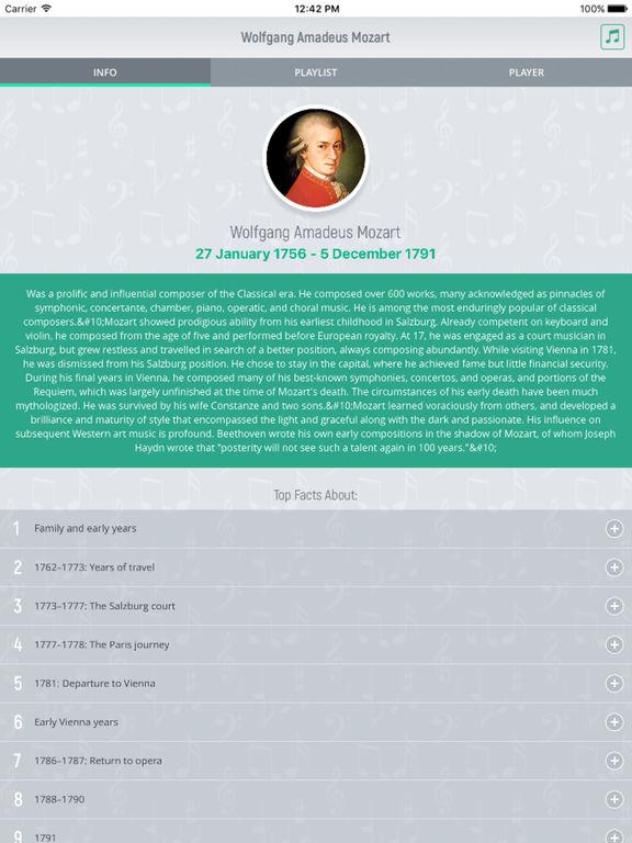 Wolfgang Mozart - Classical Music Full screenshot 5