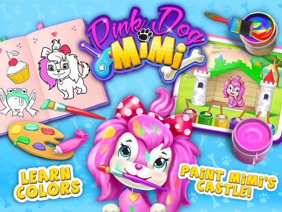 Pink Dog Mimi - My Virtual Pet Puppy Care & Games screenshot 6