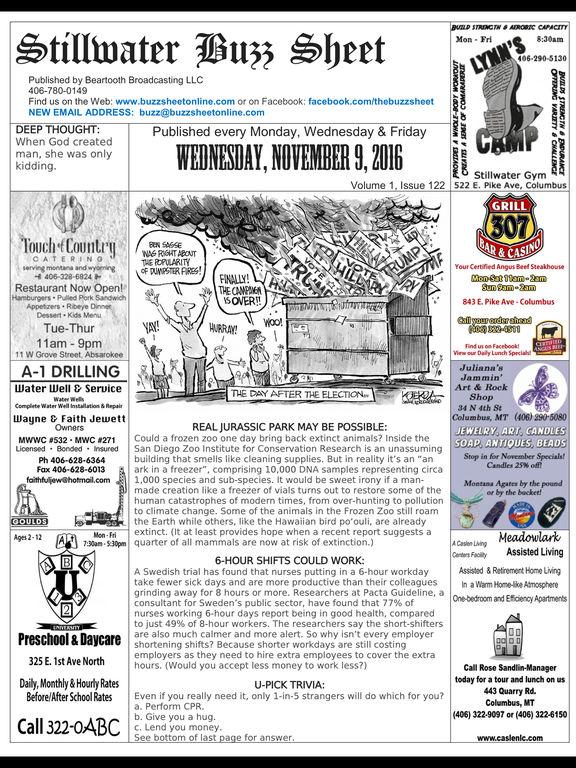 Stillwater Buzz Sheet screenshot 2