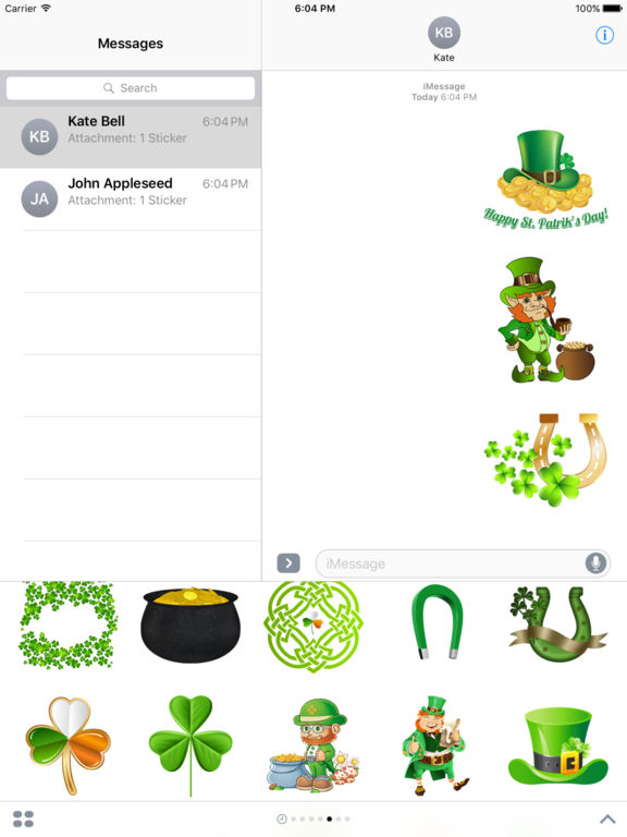 Happy St Patrick's Day Stickers for iMessage screenshot 8