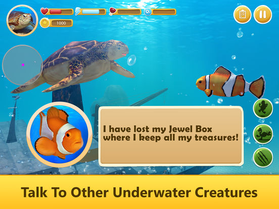 Ocean Turtle Simulator: Animal Quest 3D screenshot 8