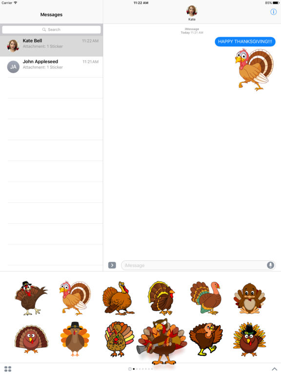 Turkey - Thanksgiving stickers screenshot 4