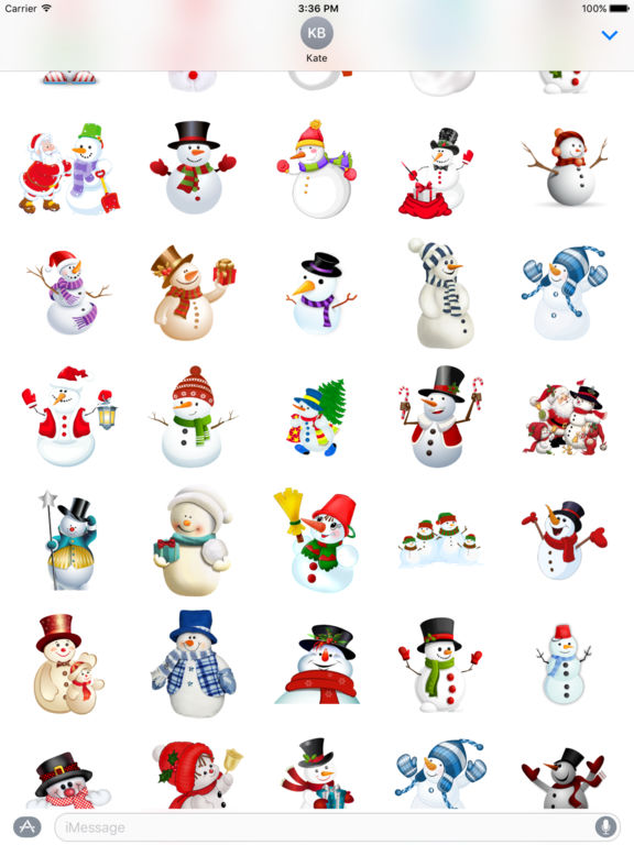 Snowman Stickers Pack iMessage Edition screenshot 8