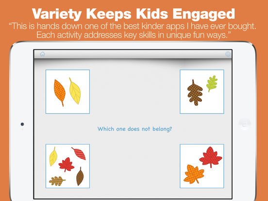 Kindergarten Learning Games - Fall Review App screenshot 10