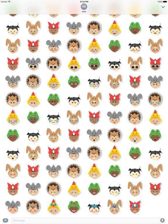 Ibbleobble Face Stickers for iMessage screenshot 10
