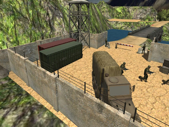 Army Trucker Drive : Comm-ando delivery Park-ing screenshot 7