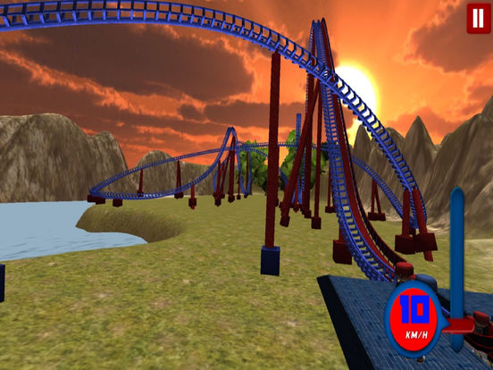 Lake Roller Coaster : 3D Hill Ride 2016 screenshot 6