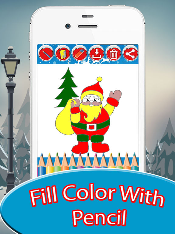 Adult Coloring Book : Christmas Drawing Pages screenshot 6