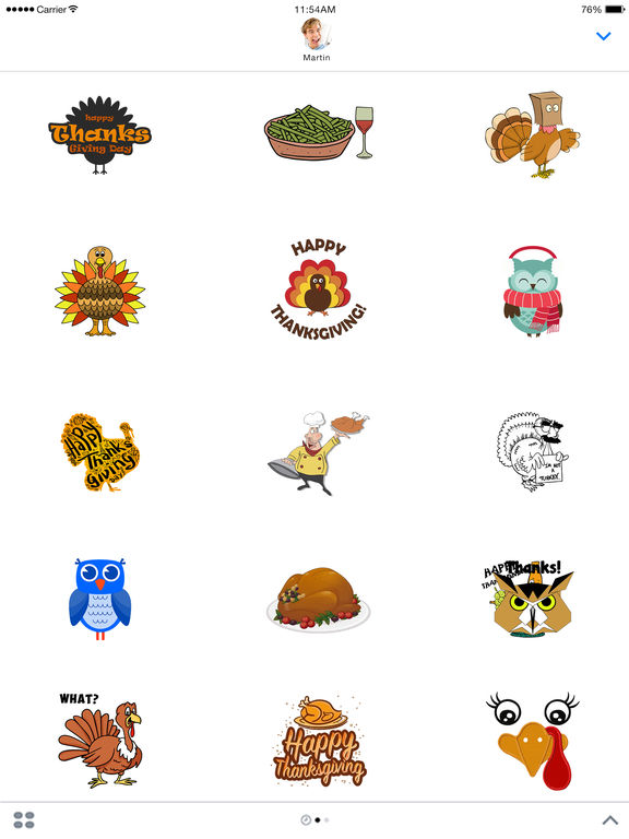 ThanksGiving Sticker screenshot 4