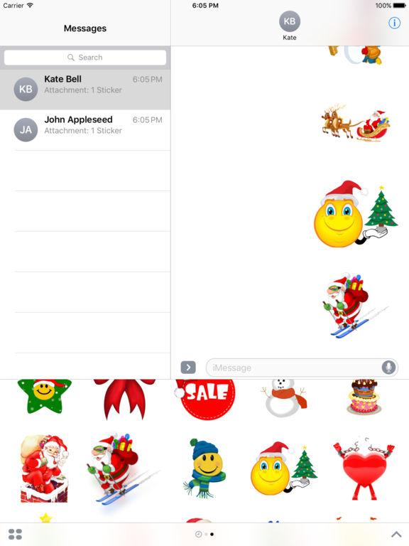 Christmas Set Stickers for iMessage screenshot 6
