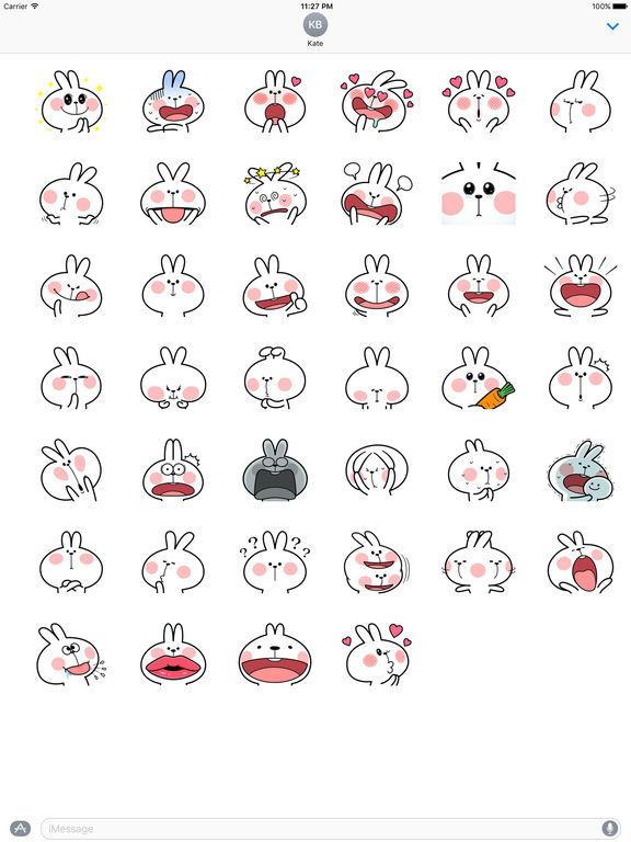 Lovely Rabbit Stickers Pack screenshot 4