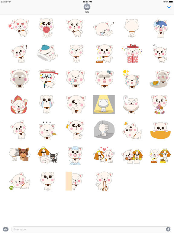 Many Stickers Of Cute Puppy screenshot 4