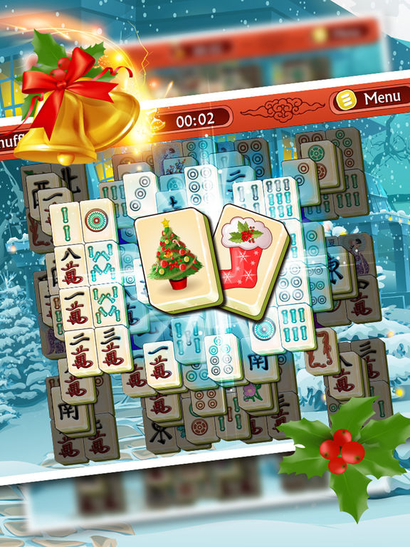 Holiday Mahjong 3D - Magic Christmas Puzzle Deluxe screenshot 9